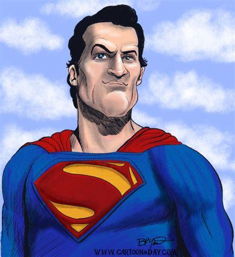 Henry Cavill As Superman Cartoon