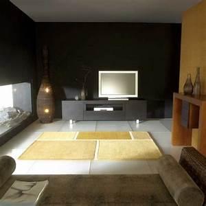 Tapis de luxe contemporain jaune field par carving for Tapis contemporain luxe