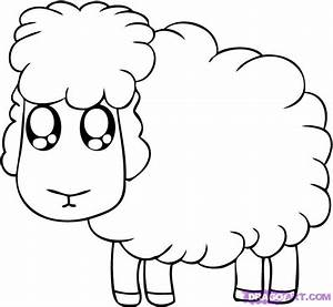 How to Draw a Cartoon Sheep, Step by Step, Cartoon Animals ...