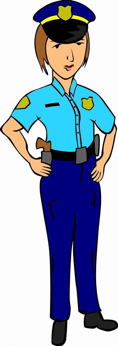 Police Clipart Officer Clip Woman Female