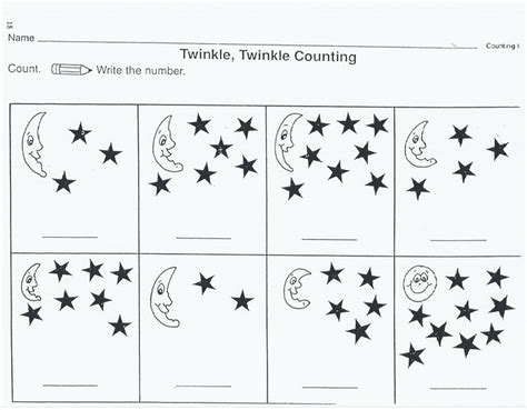 outer space worksheets  kids counting  worksheets