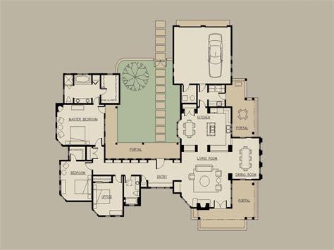 small hacienda house plans hacienda style house plans  courtyard modern floor plans