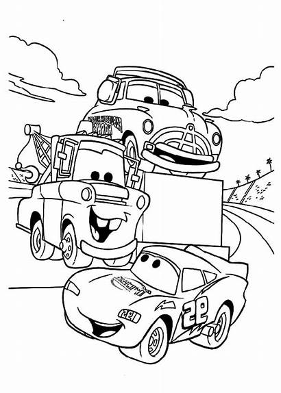 Mcqueen Coloring Lightning Pages Mater Cars Tow