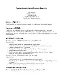 producer resume objective exles of resumes sle curriculum vitae for application how to write a cv in resume 79