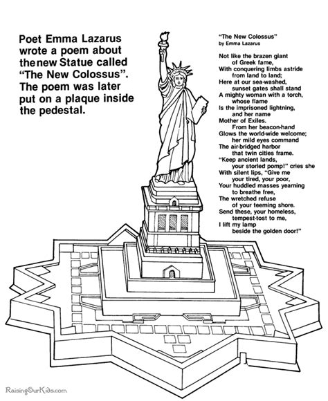 Coloring Exles by Statue Of Liberty What Is The Statue Of Liberty Poem