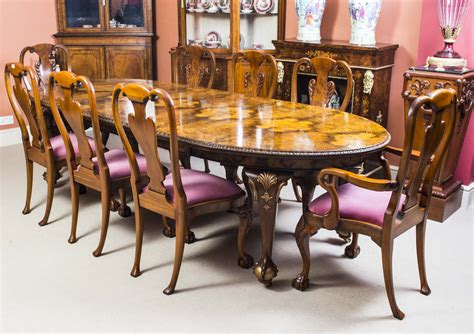 antique dining room table and chairs for antique style dining table 8 chairs c 1920 9881