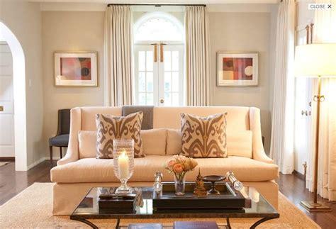elegant formal living room design  greige walls paint