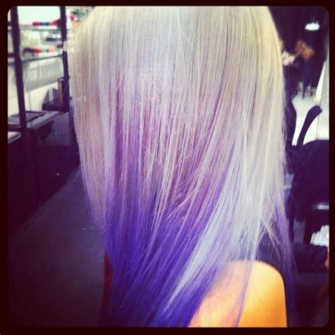 White and Purple Hair Color