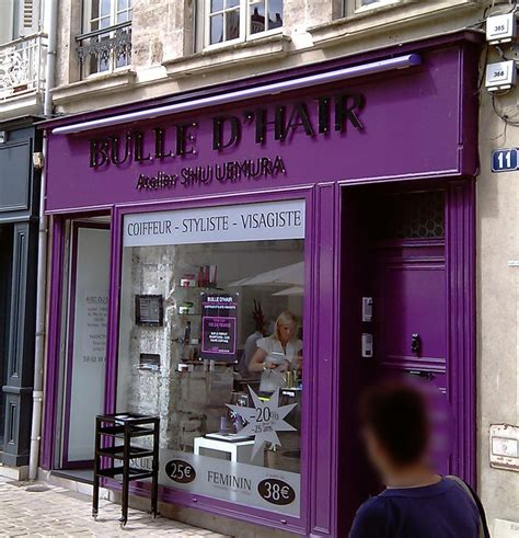 bulle d hair orl 233 ans vitrine devanture humour photo coiffeur orl 233 ans devanture bulent