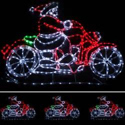 animated santa on bike rope lights silhouette outdoor decoration 1 2m ebay