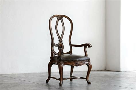 Antique Victorian Mahogany Arm Chair With Tufted Leather