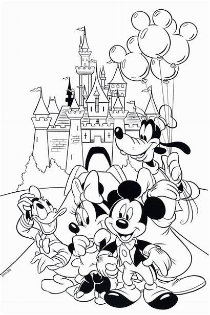 Coloring Mickey Disney Pages Mouse Printable Disneyland
