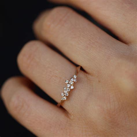 Kataoka  Thin Diamond Cluster 18k Rose Gold Ring At. Tapered Bands. 22 Karat Gold Chains. Elephant Bracelet. Womens Black Wedding Rings. Rainbow Engagement Rings. Cuff Bangle. Jerusalem Cross Pendant. Yellow Sapphire Pendant