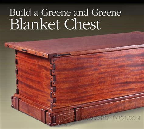 blanket chest plans woodarchivist