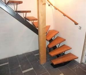 Marche Bois Escalier : escalier avec limon central metal concept escalier ~ Premium-room.com Idées de Décoration
