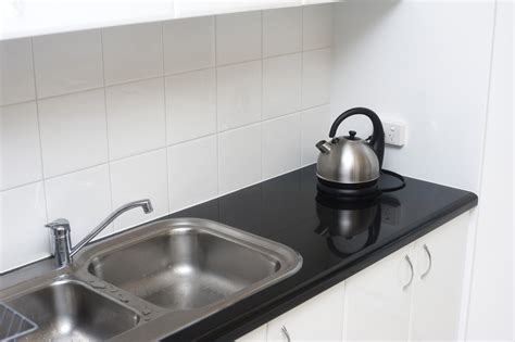 Free Stock Photo 8210 Small Kitchen With Double Sink Unit