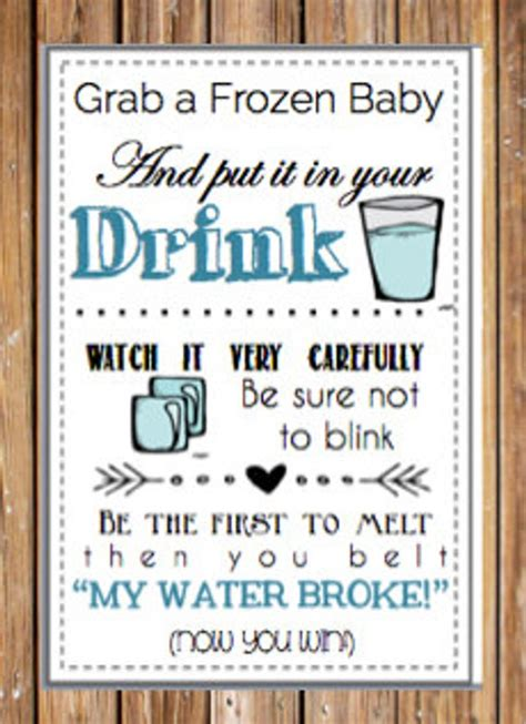 my water baby shower items similar to baby shower printable quot my water