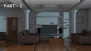 Interior modeling 3ds max tutorial 2015 youtube for Interior design living room in 3ds max