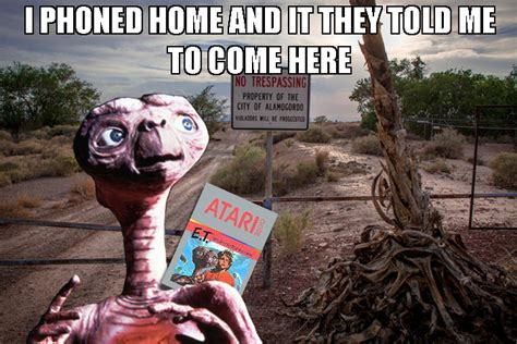 Et Meme - the retro gaming geek some canadian filmmakers think they can unearth the remains of e t in