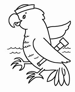 Simple Shapes Coloring pages | Parrot Sailor Bird | ¡A ...