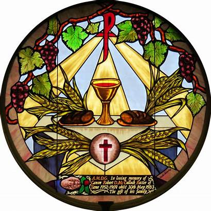 Stained Glass Eucharist Window Pixabay Thursday Holy