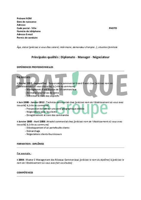 emploi formateur cuisine modèle de cv pour un emploi de formateur commercial confirmé pratique fr