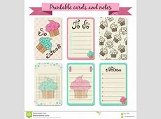 Printable Journaling Cards Stock Vector Image 60077062