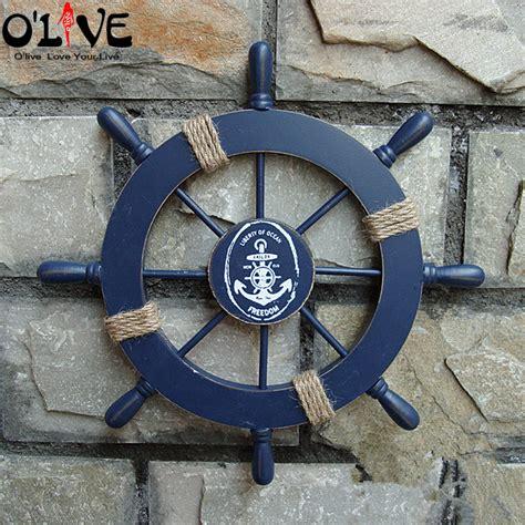 sailboat wheel wall decor mediterranean style nautical decor wooden helm crafts