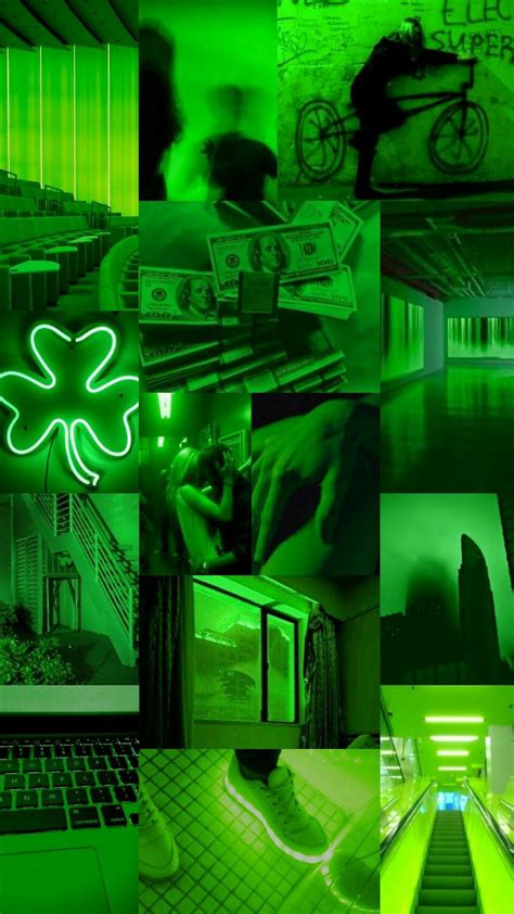 green aesthetic collage wallpapers