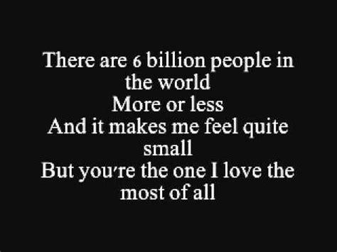 Nine Million Bicycles  Katie Melua  Lyrics On Screen