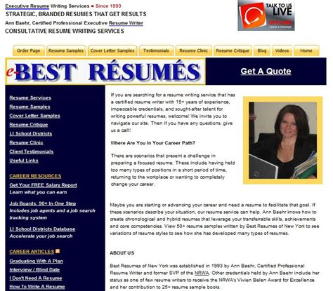 The Best Resume Writing Services Reviews by Best Resume Writing Service E Bestresumes Review