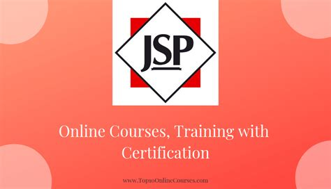 Best Java Server Pages (jsp) Online Courses, Training With