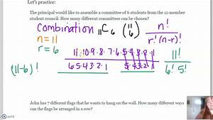 Permutations, And, Combinations, Examples