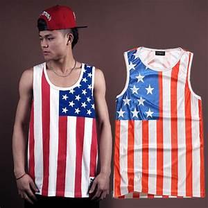 American flag usa clothes man big junior college boys t shirt sleeveless Patriotic outfits 4th ...