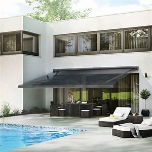 store banne motorise gold xl coffre integral 6 x 35 m With nice toile pour terrasse exterieur 8 store banne coffre store terrasse coffre exterieur