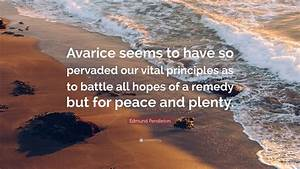 Edmund Pendleto... Peace And Plenty Quotes