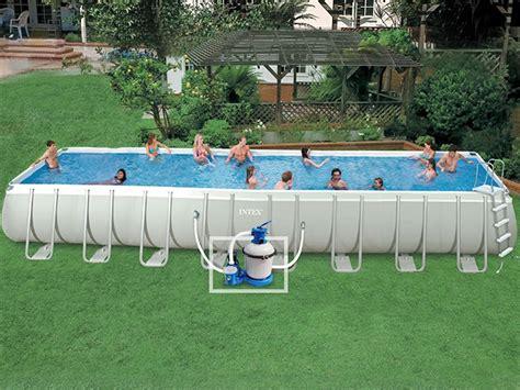 kit piscine tubulaire intex ultra silver rectangulaire 975