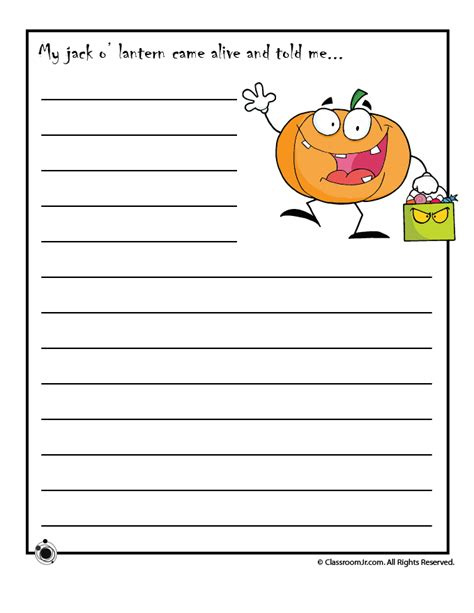 printable story starters for woo jr 142 | halloween story starters
