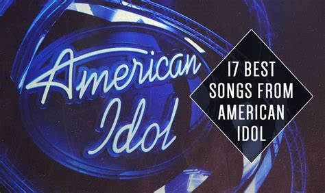 17 best songs from american idol one country