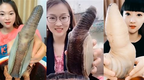 Chinese Girl Eat Geoducks Delicious Seafood 14 Seafood