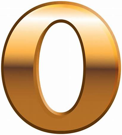 Zero Number Clipart Gold Numbers Yopriceville Transparent