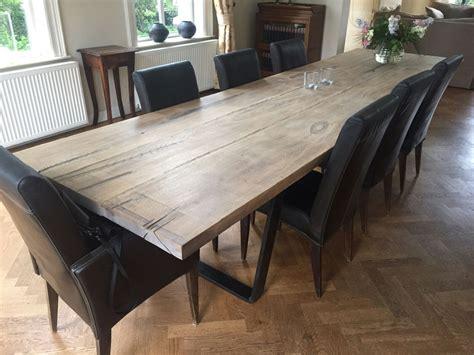 eiken tafel zwart maken de stoere eiken barnwood tafel train de online houten