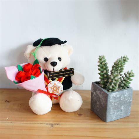 toko boneka teddy bear imut buket bunga flanel