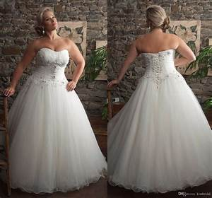 2015 kissbridal plus size wedding dress strapless lace up With plus size strapless wedding dresses