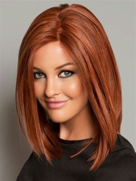 straight long bob hairstyle with beaytiful color medium