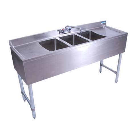 3 compartment bar sink bk resources bkubw 360t three compartment underbar sink