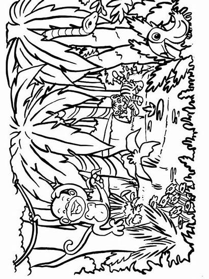 Jungle Coloring Pages Nature Mycoloring Printable Colors