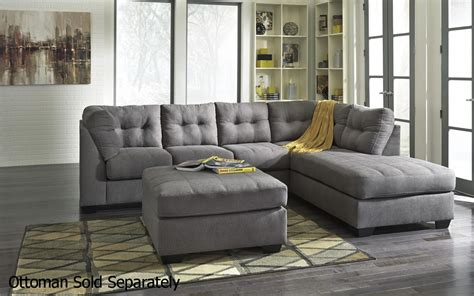 signature design by living room 4520017 4520066 grey fabric sectional sofa