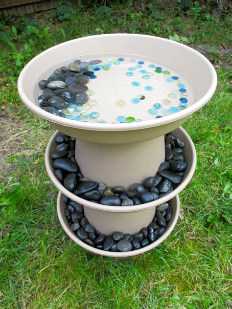 home and garden decor diy bird bath projects for summer garden decor