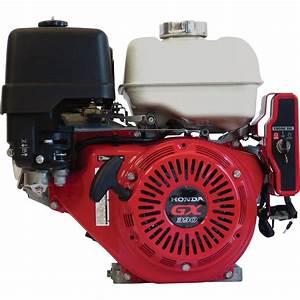 Honda Horizontal Ohv Engine With Electric Start  U2014 389cc  Gx Series  3 31  64in  Shaft  Model